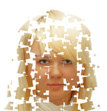 Girl-puzzle Royalty Free Stock Photography