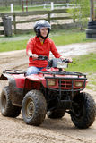 Girl in quad. Activ young girl in quad Royalty Free Stock Photos