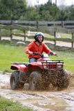 Girl in quad. Activ young girl in quad Stock Images