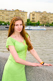 Girl on the quay Royalty Free Stock Photography