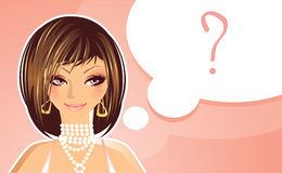 Girl question Stock Photo