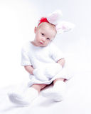 Girl - rabbit Stock Image