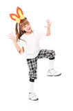 Girl with rabbit ears Royalty Free Stock Photography