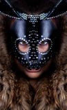 Girl in a rabbit mask Stock Image
