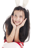 Girl with rabbits ears Stock Photo