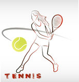 Girl with racket Royalty Free Stock Photography