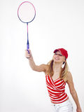 Girl and racket Royalty Free Stock Photos