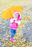 Girl in rain Stock Image