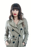 Girl in a rain coat Royalty Free Stock Images