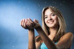 Girl in the rain Royalty Free Stock Photo
