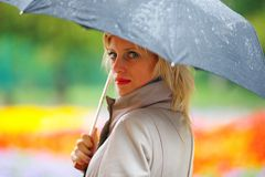 Girl in the rain Royalty Free Stock Images