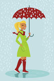 Girl in the rain Royalty Free Stock Image