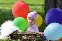 Girl and rainbow Stock Photo