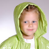 Girl in raincoat Stock Photo