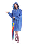 Girl in a raincoat Royalty Free Stock Photography