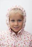 Girl with raincoat Stock Image