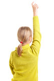 Girl raising hand Royalty Free Stock Images