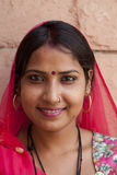 Girl from Rajasthan in India Stock Images
