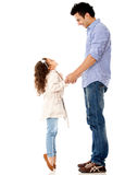 Girl reaching her dad Stock Photo