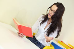 Girl read the book Royalty Free Stock Image