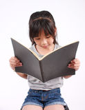 Girl read book Stock Photos