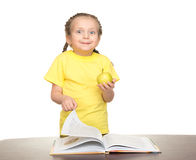 Girl read book Stock Images