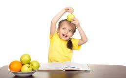 Girl read book Stock Photos