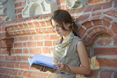 Girl reading Stock Image