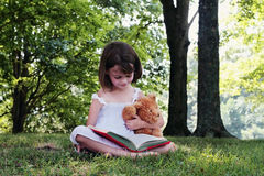 Girl Reading Stock Images