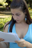 Girl reading Royalty Free Stock Image