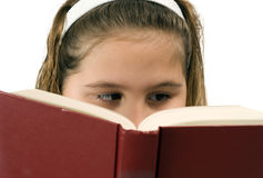 Girl Reading Stock Photography