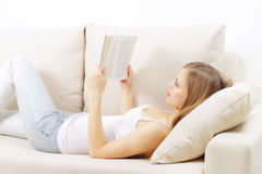 Girl Reading A Book Stock Photography