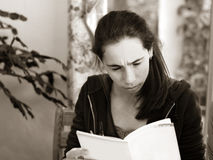 Free Girl Reading A Book Royalty Free Stock Image - 646256