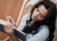 Girl reading the book Royalty Free Stock Image