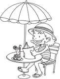 A Girl Reading a Book Stock Photo