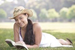 Girl Reading Book Royalty Free Stock Photos