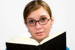 Girl reading book 2 Royalty Free Stock Image