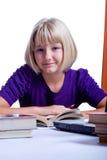 Girl reading book 2 Stock Photos