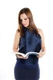 Girl reading a book Stock Photo