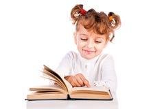 Girl reading book Royalty Free Stock Photo