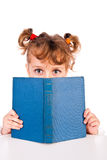 Girl reading book Royalty Free Stock Image