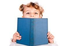 Girl reading book stock photo