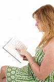 Girl reading book. Stock Images