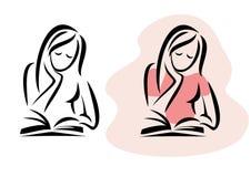 Girl reading the book Stock Photos