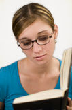 Girl reading book 3 Royalty Free Stock Photography