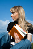Girl reading the book Stock Photo