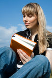 Girl reading the book Royalty Free Stock Photo