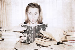 girl reading the book Stock Image