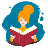 Girl reading a book. Royalty Free Stock Photography