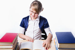 Girl reading a book Stock Photos